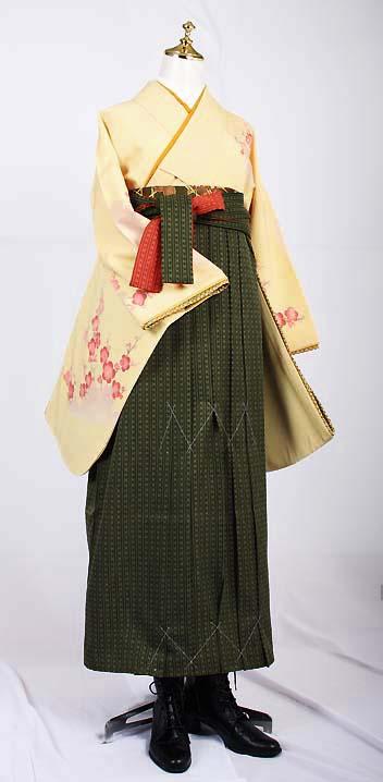 卒業式袴レンタル【送料無料】レンタル卒業袴セットはんなり梅きなりお手頃卒業式袴セット