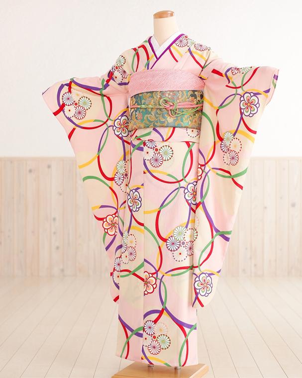 【夏用】【単衣】【振袖レンタル】 ピンク色に縁起三色と和華 sf1139【レンタル 振袖】【着物レンタル】【振袖 フルセット】【振り袖】【単】【夏】【結婚式】【結納】【貸衣装】【6月/7月/8月/9月】【kimono】新品足袋プレゼント【往復送料無料】【fy16REN07】