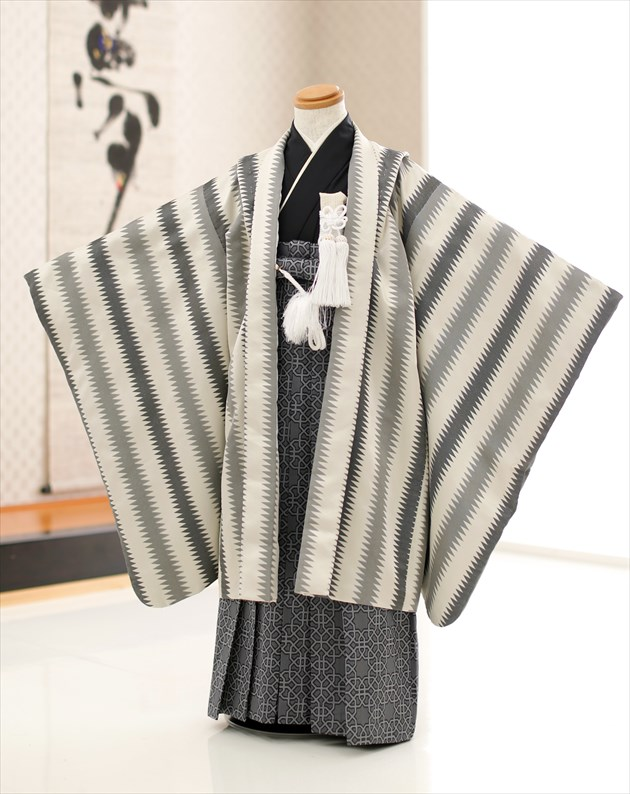 Boy kimono rental 6 years old 7 years old 8 years old hakama d6066 older  brother Seven-Five-Three Festival large 5 years old << around 125cm tall >>