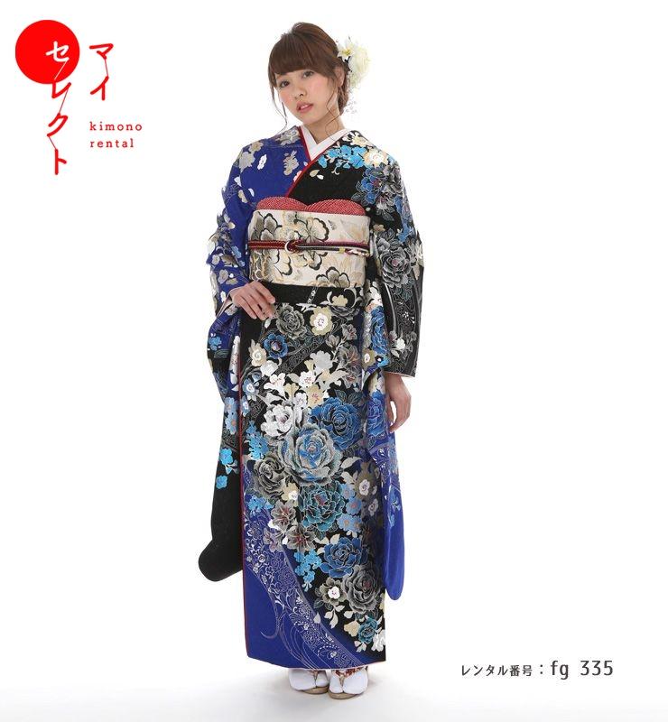 fg_335 / 桂由美 YK-241 ブラック×ブルー【レンタル】