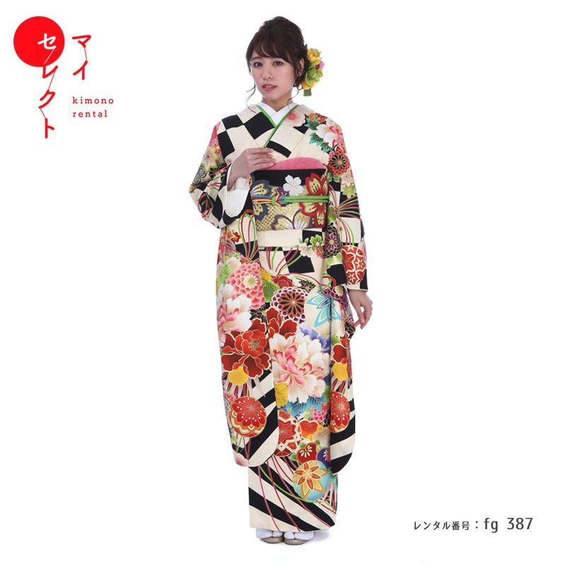 振袖 レンタル fg_387 【レンタル】