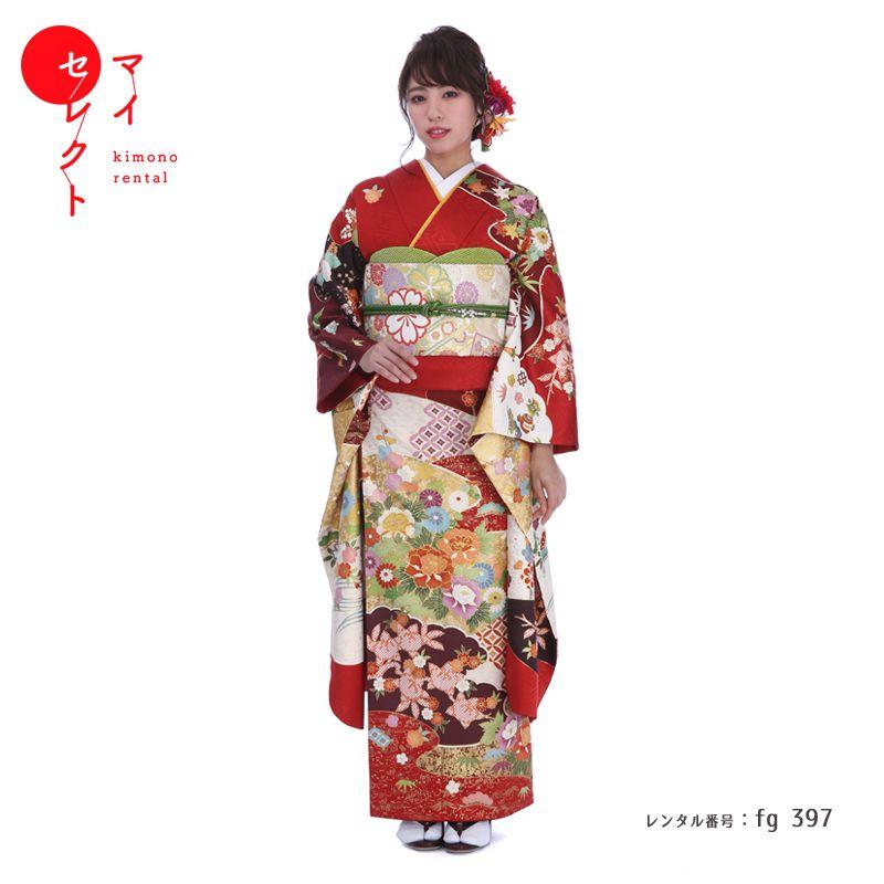 振袖 レンタル fg_397 【レンタル】