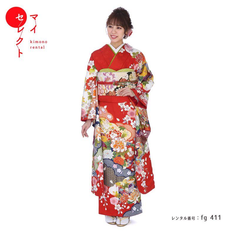 振袖 レンタル fg_411 【レンタル】