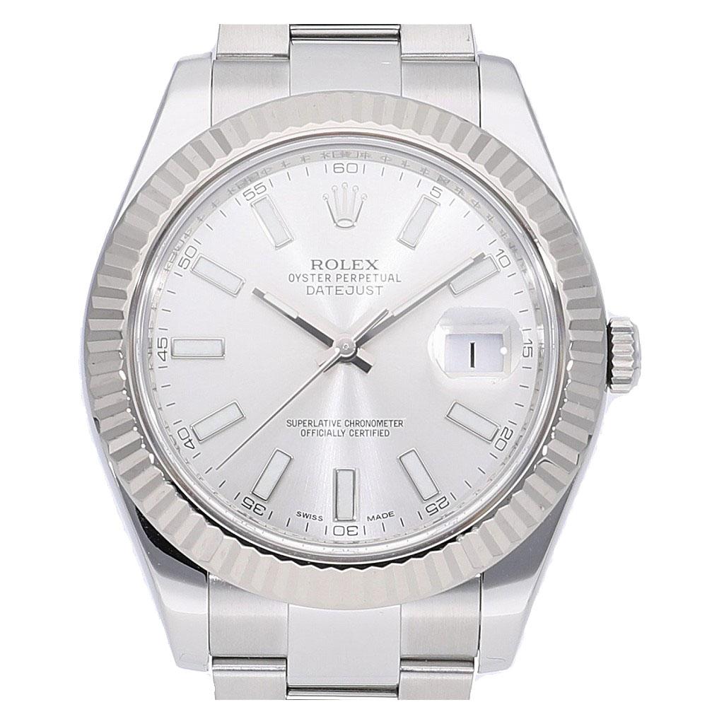 [6/4 20時~ スーパーSALE 割引クーポン配布中] ロレックス デイトジャストII 116334 ランダム 中古 メンズ(男性用) 送料無料 腕時計
