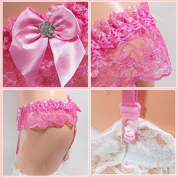 """""""Sweet glitter Ribbon ☆ garter belt"""