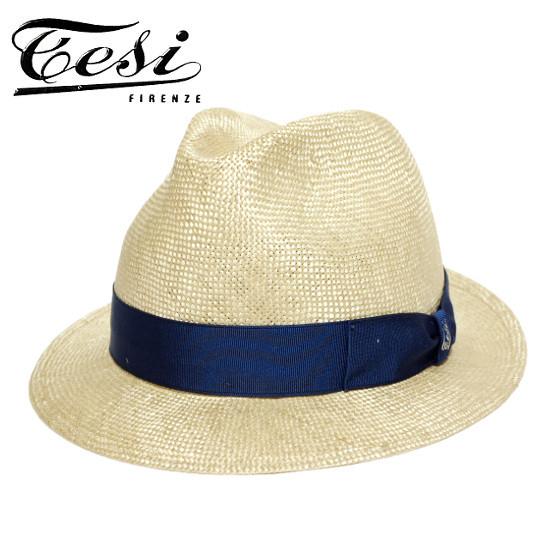 イタリア ストローハット シゾール 中折れハット メンズ テシ tesi 夏 春 大きいサイズ T1602 ベージュ 小さいサイズ 帽子 ショートブリム