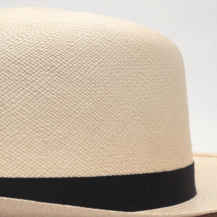 スジ入り オプティモ パナマハット つば広 メンズ 紳士 帽子 ストローハット TESI テシ パナマ帽 ナチュラル ベージュ 春 夏 大きいサイズ 小さいサイズ シンプル 無地 トラッド MONTECRISTI モンテクリスティー
