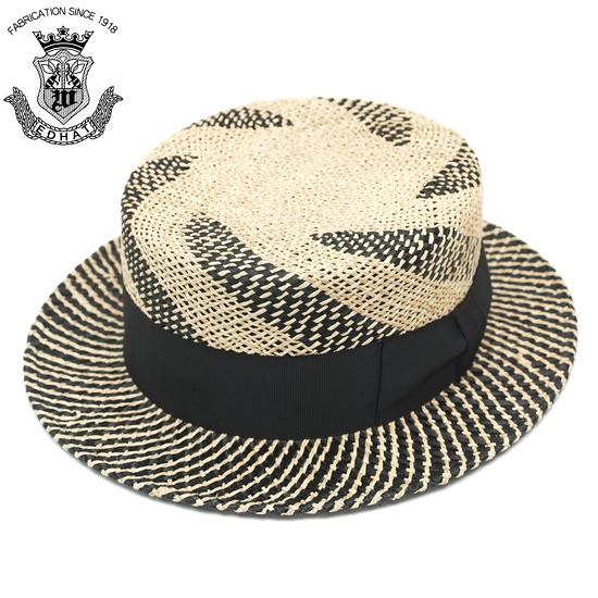 カンカン帽 メンズ 紳士 夏 ストローハット 大きいサイズ EDHAT エドハット ストローハット ナチュラル ブラック 黒 サイズ調節 帽子 春夏 ボーターハット 日本製 送料無料