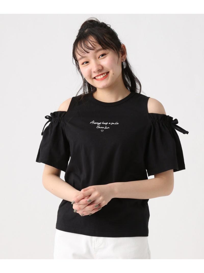 repipi armario レディース カットソー レピピアルマリオ 買取 SALE 60%OFF カタアキソデリボンSS Fashion ホワイト ブラック パープル RBA_E 贈物 Rakuten キッズカットソー