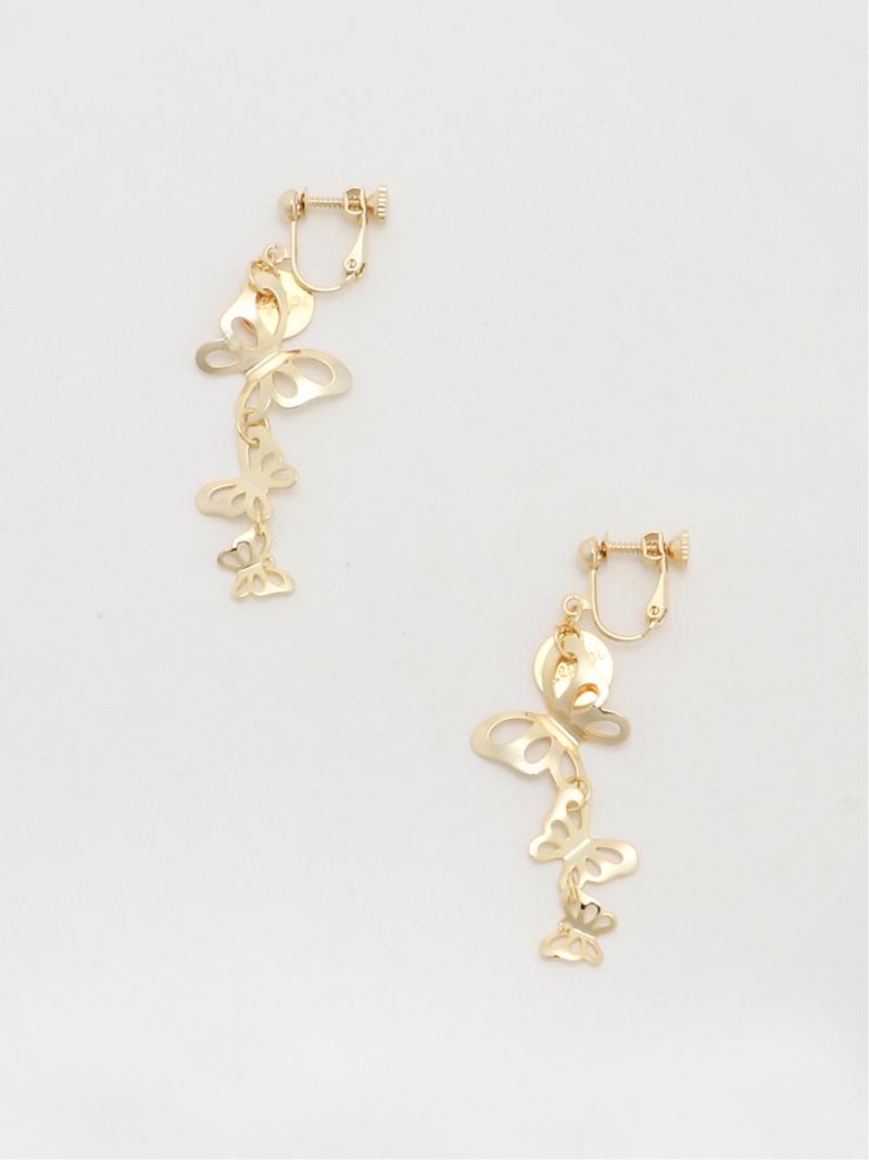 repipi armario キッズ ファッショングッズ レピピアルマリオ Rakuten ゴールド キッズ用品 3レンチョウチョイヤリング 日本未発売 迅速な対応で商品をお届け致します シルバー Fashion