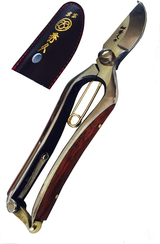 木張り鏡面磨きのスペシャルな木張り剪定鋏 《 あす楽 宗家秀久 木張り剪定鋏スペシャル  越後三条 外山刃物