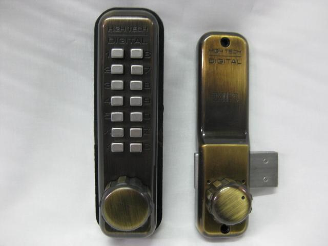 タイコーハイテックデジタルドアロック5100面付錠AB真鍮ブロンズ色HSサムターン付 玄関 ドア 扉 修理 パーツ 期間限定特別価格 部品 交換 補修 新作送料無料
