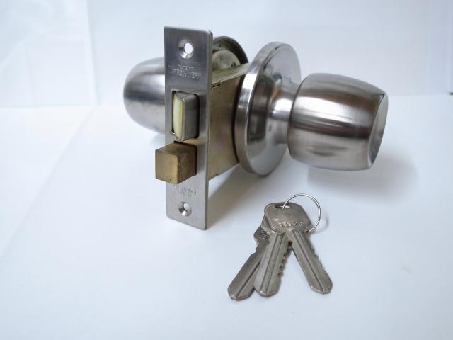 フロンティアロック製インテグラル錠F-1-G玄関錠バックセット64ミリ玄関 ドア 扉 修理 補修 交換 部品 パーツ