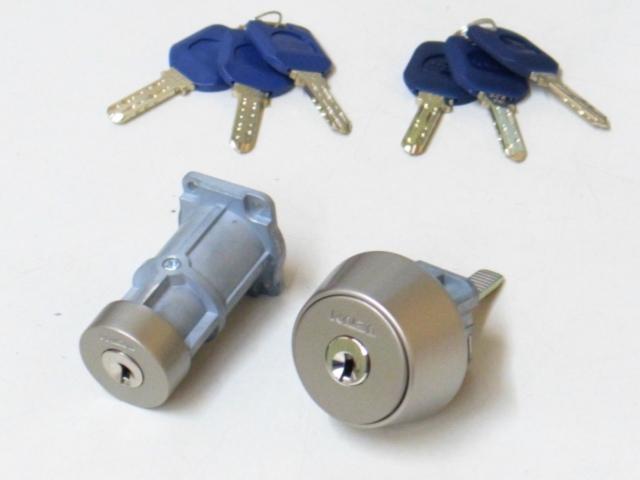 カバエースRA 85RA とNDZ NDR CPNDR取替用シリンダー シルバー色 3243 国内正規品 3246 2個同一仕様 純正6本鍵付 2個同一仕様 買い取り 純正6本鍵付