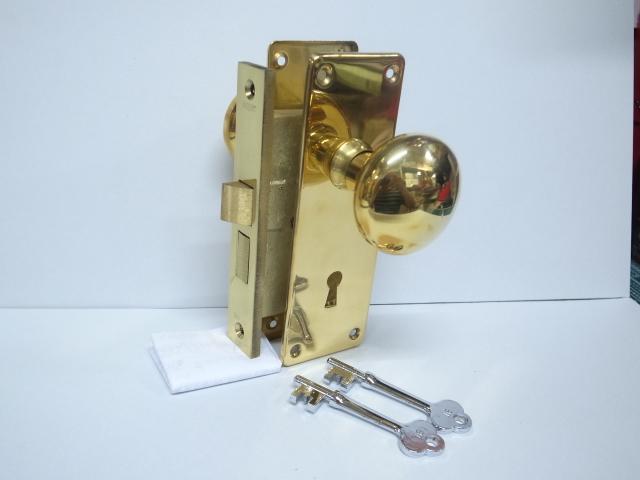 エージェント社(AGENT)真鍮鋳物製箱錠 No.5300(棒カギタイプ)バックセット38ミリ