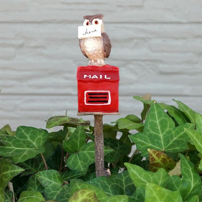ガーデンピックでお庭を可愛くデコレーション 友膳 お歳暮 オウルポストピック 5E3570 発売モデル フクロウ 小物 オーナメント かわいい ガーデニングアクセサリー グッズ 雑貨