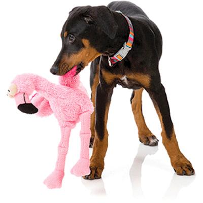■FuzzYard フロー フラミンゴ ホッタハブ ▽b ペット グッズ 犬 ドッグ おもちゃ ぬいぐるみ