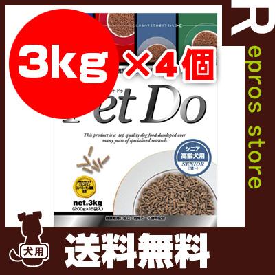 送料無料・同梱可 ☆New ペット Do シニア 3kg×4個 ジャンプ ▼g ペット フード 犬 ドッグ