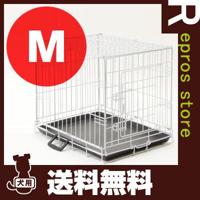 ペットケージ ホワイト M Leaps ▼a ペット グッズ 犬 ドッグ 猫 キャット【送料無料・同梱不可】