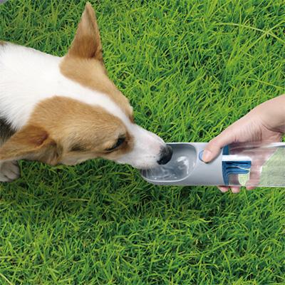 在庫セール △今なら、プープバッグ ネイビープレゼント! ペットキット ワンタッチ ウォーターボトル グレー ダッドウェイ ▽b ペット グッズ 犬 ドッグ 散歩 給水