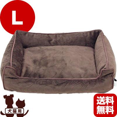 在庫セール 送料無料・同梱可 エントランスベッド L BR[ブラウン] フレックス販売 ▽f ペット グッズ 犬 ドッグ 猫 キャット