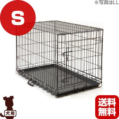 在庫セール △ペットケージ ブラック S Leaps ▼a ペット グッズ 犬 ドッグ 猫 キャット【送料無料・同梱不可】