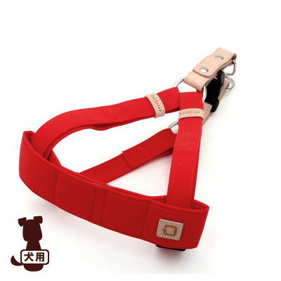 ■クチタプ [QUCHITAP] セボナー[CEBONNER] ハーネス レッド フラッペ ▽b ペット グッズ 犬 ドッグ アクセサリー 胴輪