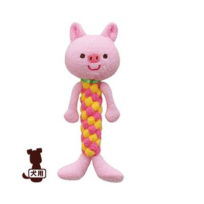 デンタルアニマル こぶた ボンビ▼a ペット グッズ ドッグ おもちゃ ロープ デンタルトイ