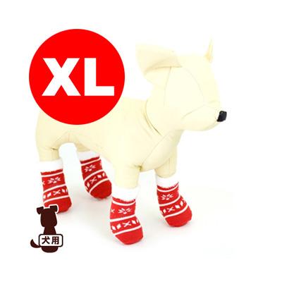 傷舐めや肉球保護にピッタリ ☆ペットソックス4足セット XL クリスマス 日本最大級の品揃え アライブ g 贈与 ペット ドッグ グッズ 小物 犬