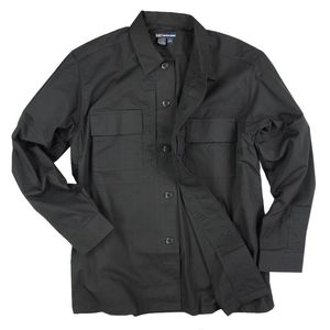 5.11タクティカル TDU 長袖シャツ 72054 [ ブラック / Lサイズ ] TDUシャツ ミリタリーシャツ ワイシャツ 長そで アーミーシャツ