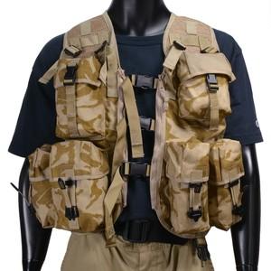 イギリス軍放出品 タクティカルベスト デザートDPM 8個ポーチ付 イギリス迷彩 デザート迷彩 軍払い下げ アサルトベスト ミリタリーグッズ ミリタリー用品 サバゲー装備