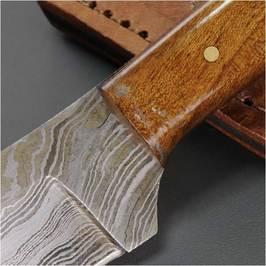 斯金纳 DM1080WN 大马士革木大马士革刃刀剥皮刀狩猎刀猎人狩猎刀鞘