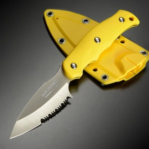 Gサカイ サビナイフ1 半波刃 イエロー 11506 キャンプナイフ アウトドアナイフ サバイバルナイフ シースナイフ ハンティングナイフ
