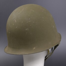 French military-releasing article M1951 steel helmet latter term model two  levels structure [A rank] French military WW2 M51 OTAN helmet Mle TTA pear