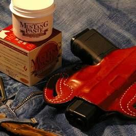 纯粹的国内马油糊 MUS100 野马马油保守石油蜡的野马粘贴皮革 |