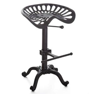 椅子 バーチェア 鋳物 インダストリアルスタイル カウンターチェア レストランチェア スツール アイアン 回転イス インテリア レトロ ヴィンテージ アメリカンスタイル