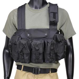 CONDOR チェストリグ M16マガジン6本 CR [ ブラック ] OUTDOOR コンドルアウトドア 弾薬帯 M16マガジンポーチ M16マグポーチ サスペンダー