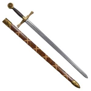 DENIX アーサー王剣 エクスカリバー 模造刀 ロングソード [ ゴールド / 刻印なし ] デニックス Arthurs Excalibur トレーナー 模造ナイフ 樹脂ナイフ 練習用 CQC CQB 西洋剣 西洋武具 Gold 刻印無し