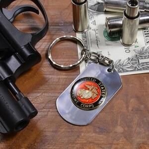 有狗标签钥匙圈USMC家徽4783海军陆战队海军陆战队开瓶器船坞标签证明牌DOG TAG tsuyaari光泽,做光泽男子的配饰