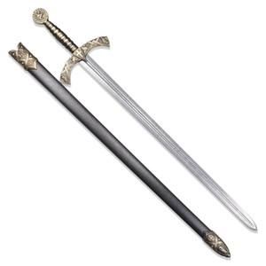 DENIX ナイトテンプラーソード 模造刀 ロングソード 4163 [ ブラック ] デニックス Knight Templar Sword レプリカ 模造ナイフ 練習用 Black ゴールド Gold 十字軍 テンプル騎士団 西洋剣 西洋武具