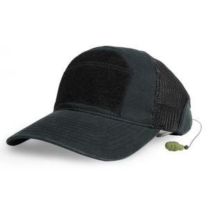 ミルスペックモンキー CG-HAT メッシュキャップ DLUX 耳栓付 [ ブラック / L/XLサイズ ] MIL-SPEC MONKEY イヤープラグ デラックス ベースボールキャップ 野球帽 メンズ ワークキャップ ハット ミリタリーキャップ