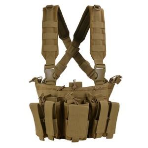 CONDOR チェストリグ MCR5 リーコン M4 ピストルマガジン6本 [ コヨーテブラウン ] OUTDOOR コンドルアウトドア 弾薬帯 M4マガジンポーチ M16マガジンポーチ M4マグポーチ M16マグポーチ サスペンダー