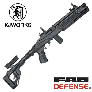 KJ WORKS ホークアイ タクティカルショーティー FAB DEFENSEカスタム UAS KJワークス KJ11A HAWK EYE ファブディフェンス ガスライフル銃 ガスブロライフル ガスブローバックライフル 自動小銃 アサルトライフル ガスカービン銃 遊戯銃