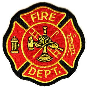 アメリカファイヤーデパートメントのワッペンFIRE DEPT 消防署 マークのワッペンです ワッペン FIRE ロゴマーク 超定番 熱圧着式 ミリタリーミリタリーパッチ アップリケ 予約販売品 記章 肩章 徽章 胸章 EMTパッチ 襟章 スリーブバッジ EMTワッペン 救急 EMSワッペン 階級章 EMSパッチ