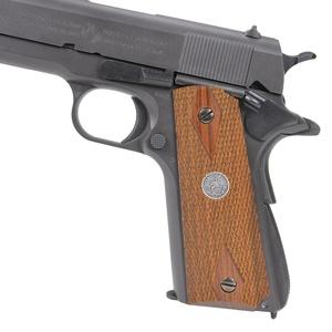 キャロムショット 木製グリップ 紫檀ダイヤチェッカー イーグルメダル M1911A1用 ハンドガン カスタムパーツ カスタムグリップ