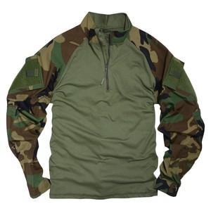TRU-SPEC コンバットシャツ 1 4ジッパー NYCO レギュラー丈 [ ウッドランド / Mサイズ ]