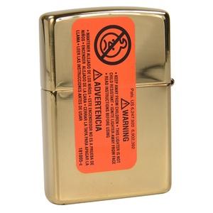 High Polish Brass Zippo lighter ZIPPO flame #28975