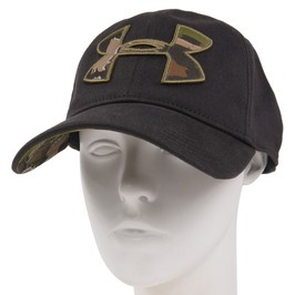 Under Armour camouflage logo cap 1282396-free fitting black Under Armour  duck Camo heat gear hat Free Fit baseball cap baseball cap men work cap hat  ... ea324a70ab2