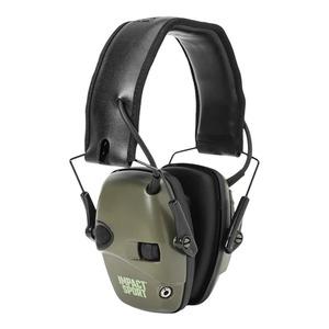 HOWARD LEIGHT 電子防音イヤーマフ NRR22 IMPACT SPORT [ オリーブドラブ ] ハワードレイト 22デシベル ヒアリングプロテクター 騒音 耳当て 工事用 防音ヘッドフォン