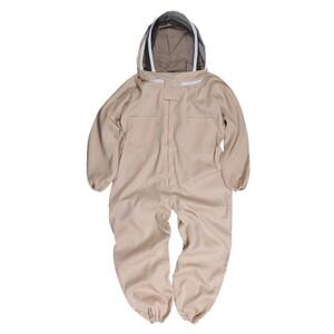 蜂防護服 フェイスガード付 つなぎタイプ [ XLサイズ ] ハチプロテクター スズメバチ駆除 草刈り 農作業 白